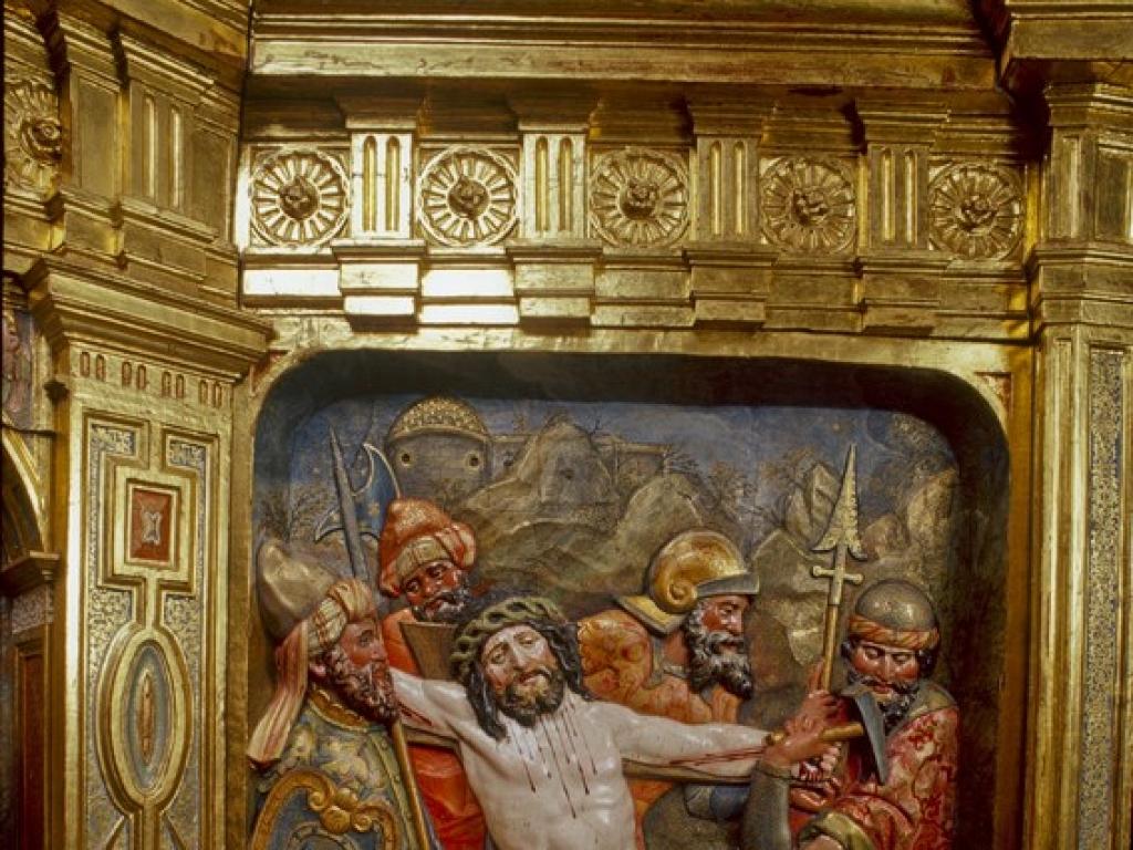 Detalle del retablo tras la restauración