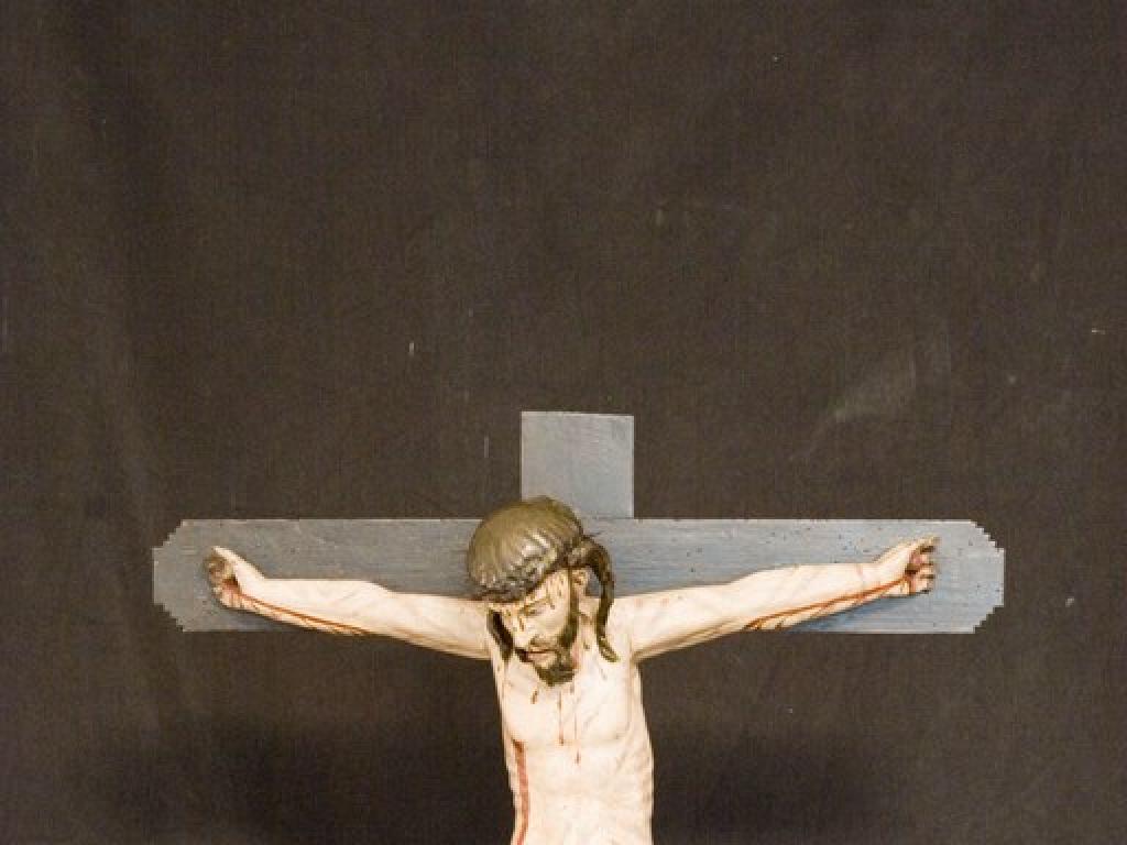Talla de Cristo crucificado, tras la restauración. Archivo FSMLRPH_Majo G. Polanco