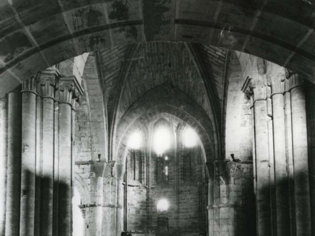 Iglesia del monasterio antes de la restauración