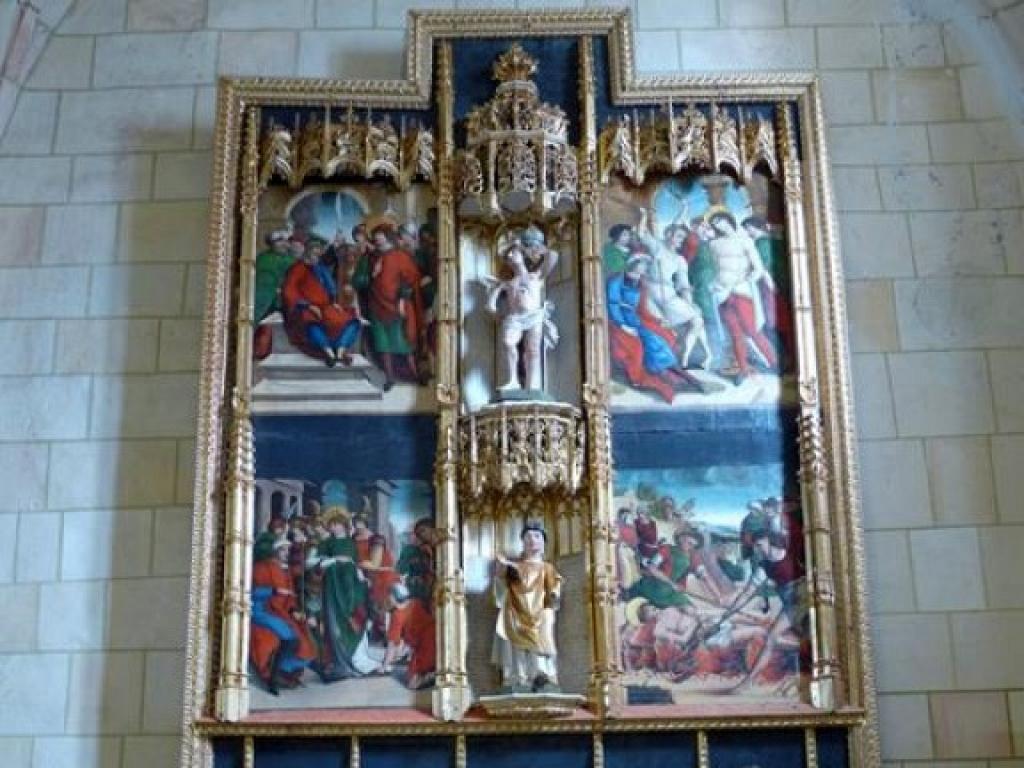Retablo de San Lorenzo en la Iglesia de San Miguel - Ventosa de Pisuerga