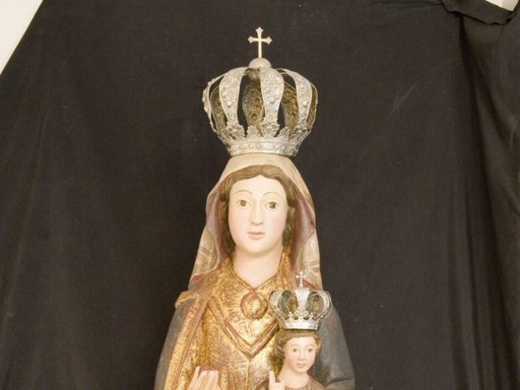 Talla de Santa María la Real tras la restauración. Archivo FSLMRPH_Majo G. Polanco
